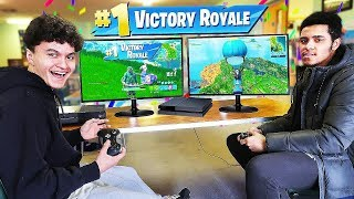 16 Year Old Little Brother 1v1's BEST Fortnite Player in SCHOOL