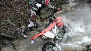 Funny games with a CRF450X Waterfalls Enduro