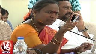 Minister Etela Rajender And MLA Bodiga Shobha Fires On Officers Over Mission Kakatiya Works