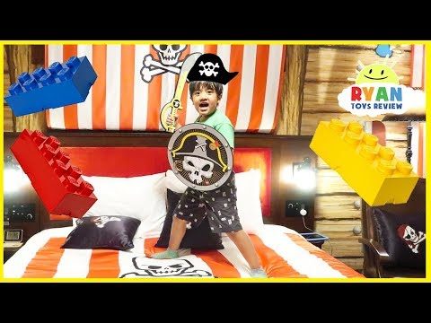 Legoland Hotel Pirate Room Tour Kids Amusement Park!!!!