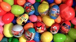 Huge 101 Surprise Eggs AngryBirds Cars2 Thomas Dora DC Spongebob Moshi Kinder Toys Disney