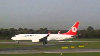 Turkish Airlines Landing at Duesseldorf Airport 19.10.2012 HD