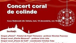 Concert coral colinde -Gătaia 2016-