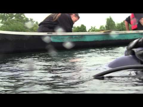 Scuba geocache maintenance (Welland scuba park)