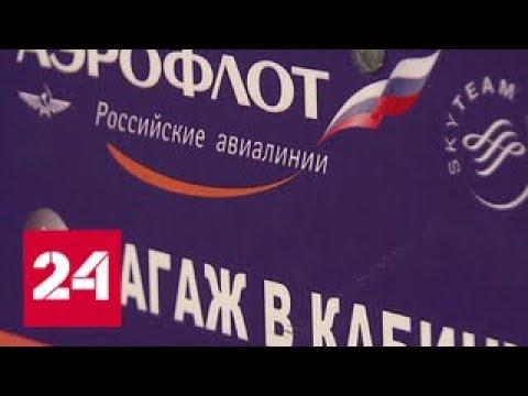 В Аэрофлоте багаж пассажиров будут проверять трижды - Россия 24