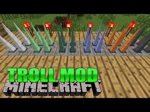 TROLL MOD: Torch Lever - Minecraft Mod