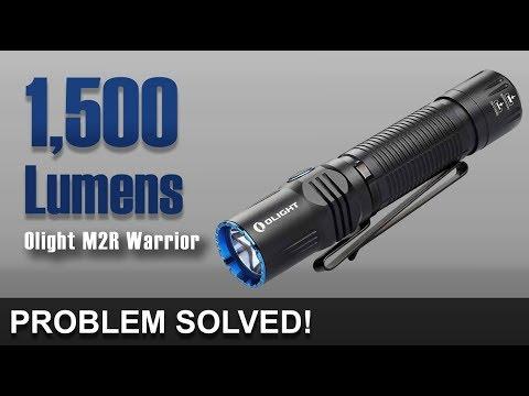 Perfect 1,500 Lumens - Olight M2R Warrior