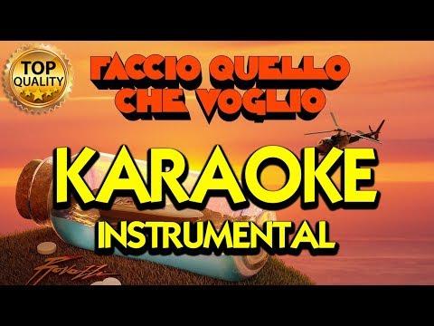 Fabio Rovazzi: FACCIO QUELLO CHE VOGLIO (Karaoke - Instrumental)