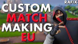 (EU) HOSTING CUSTOM MATCHMAKING SCRIMS | ANY PLATFORM | FORTNITE LIVE