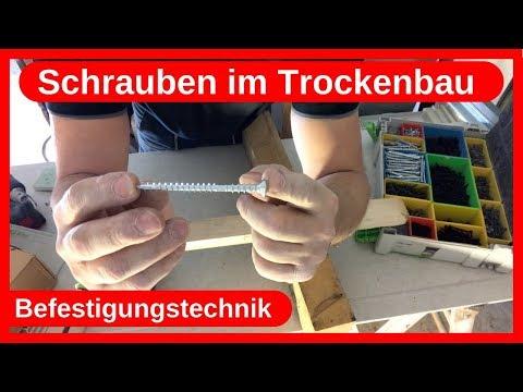 Schrauben im Trockenbau / Befestigungstechnik / Dachausbau