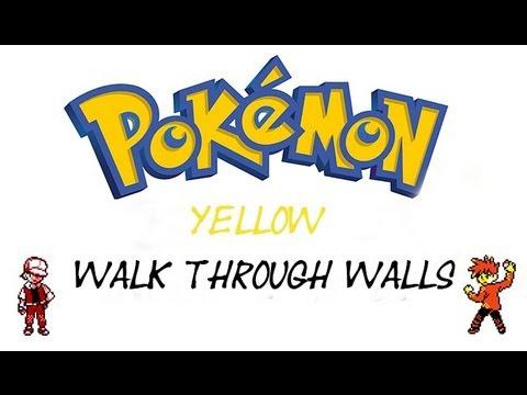 How To Walk Through Walls In Pokemon Yellow (Gameshark)