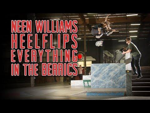Neen Williams Heelflips Everything in The Berrics