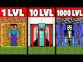 Minecraft Battle: NOOB Vs PRO Vs GOD : EVOLUTION SECRET PRISON DOOR Challenge In Minecraft Animation