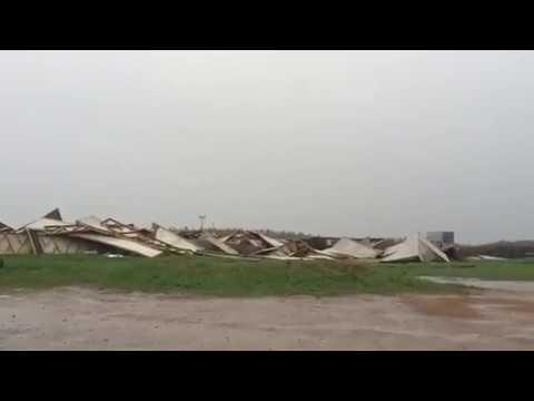 Ураган разрушил пирамиду Голода на Рижском шоссе