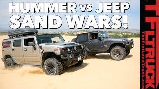What's Better in the Sand Dunes: Hummer vs Jeep TFLtruck Celebration