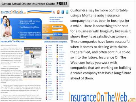 Montana Auto Insurance