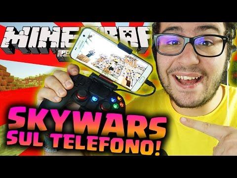 MINIGAME MINECRAFT SUL TELEFONO! - Minecraft PE ITA SKYWARS