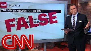 Chris Cuomo fact-checks Trump's claim on immigration