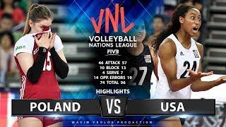 Poland vs USA    Highlights   Women's VNL 2019