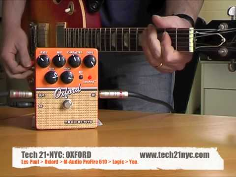 Tech 21•NYC: OXFORD - Direct to sound card with Les Paul (Manalishi Pickups)
