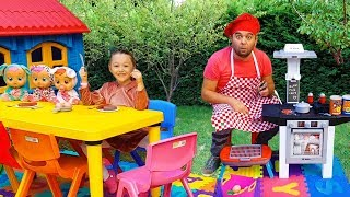 Öykü Pretend Play w / Cute Kitchen Restaurant Toy Cooking Food Kids Playset - Funny Oyuncak Avı