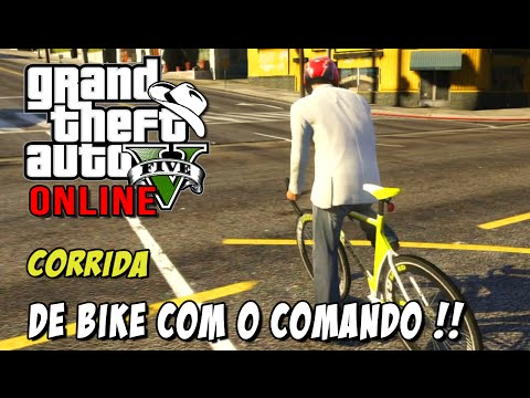 GTA 5 Online - Corrida Shortest Race Ever: Galera do comando e disputa de Bikes