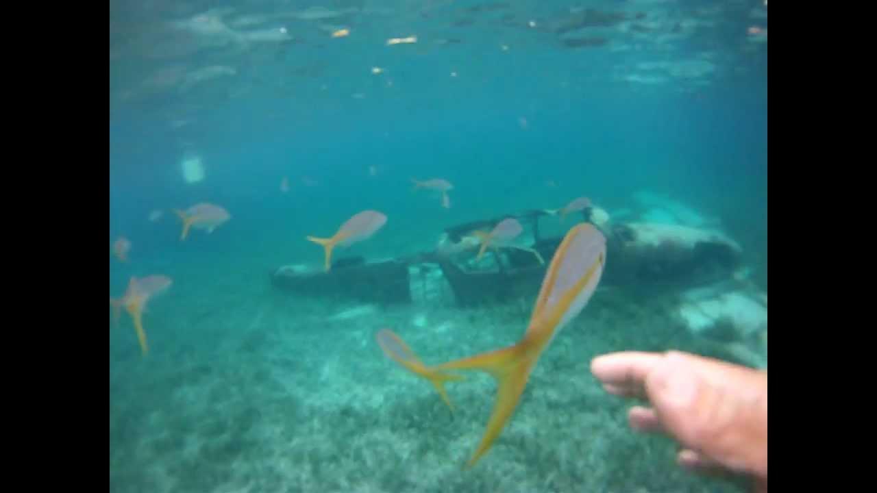 underwater airplane crash site youtube