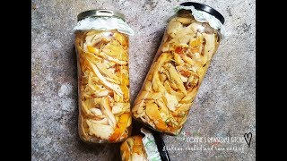JARRING - PRESERVING FOOD = STORAGE - MUSHROOMS - CHICKEN OF THE WOODS  | Connie's RAWsome kitchen