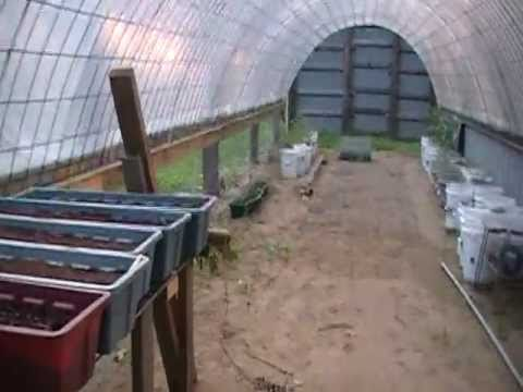 Greenhouse Homemade With Cattle Panels Youtube