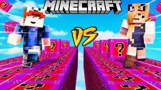 SZALONY WYŚCIG! - TAJEMNICZE LUCKY BLOCKI MINECRAFT! (Lucky Block Race) | Vito vs Bella
