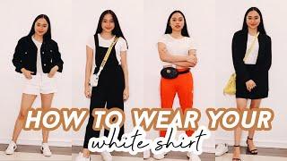 12 WAYS TO WEAR YOUR WHITE T-SHIRT! | ThatsBella