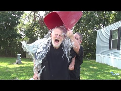 GRANDPA TAKES THE ALS ICE BUCKET CHALLENGE!