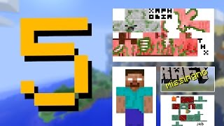 ✔ Minecraft: 5 Secret Hidden Messages