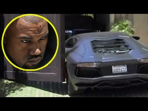 Kanye West's Assistant Crashes His Lamborghini