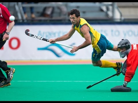 Jamie Dwyer 5 goals for Australia vs France |HD| Hockey World League Rotterdam