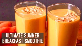Summer Breakfast Smoothie | Oats Carrot & Mango Smoothie Recipe | Easy Quick Vegan Breakfast Idea