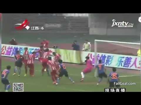 Crazy! Wang Jianwen corner kick goal Jiangxi Liansheng VS Tianjin Songjiang by:FailGoal.com