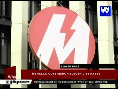 Meralco cuts March electricity rates
