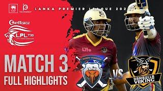 Match 3 | Kandy Tuskers vs Dambulla Viiking | LPL2020 Full Highlight