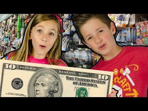 $10 TOY SHOPPING CHALLENGE! FIRST EVER TOY HUNT with $10! Toy Haul Shopkins Minions IDEA BY PLP TV