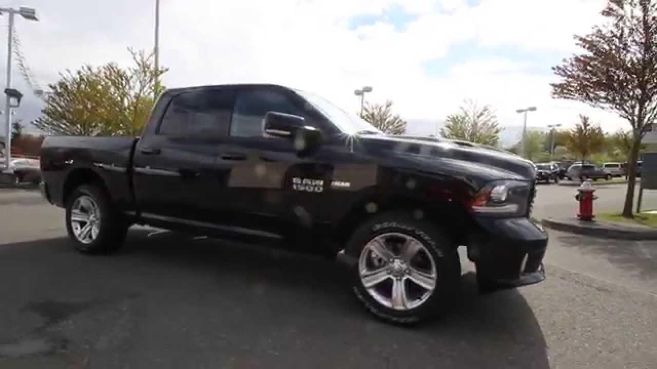 2014 Dodge Ram 1500 Sport Crew Cab Black Es227925