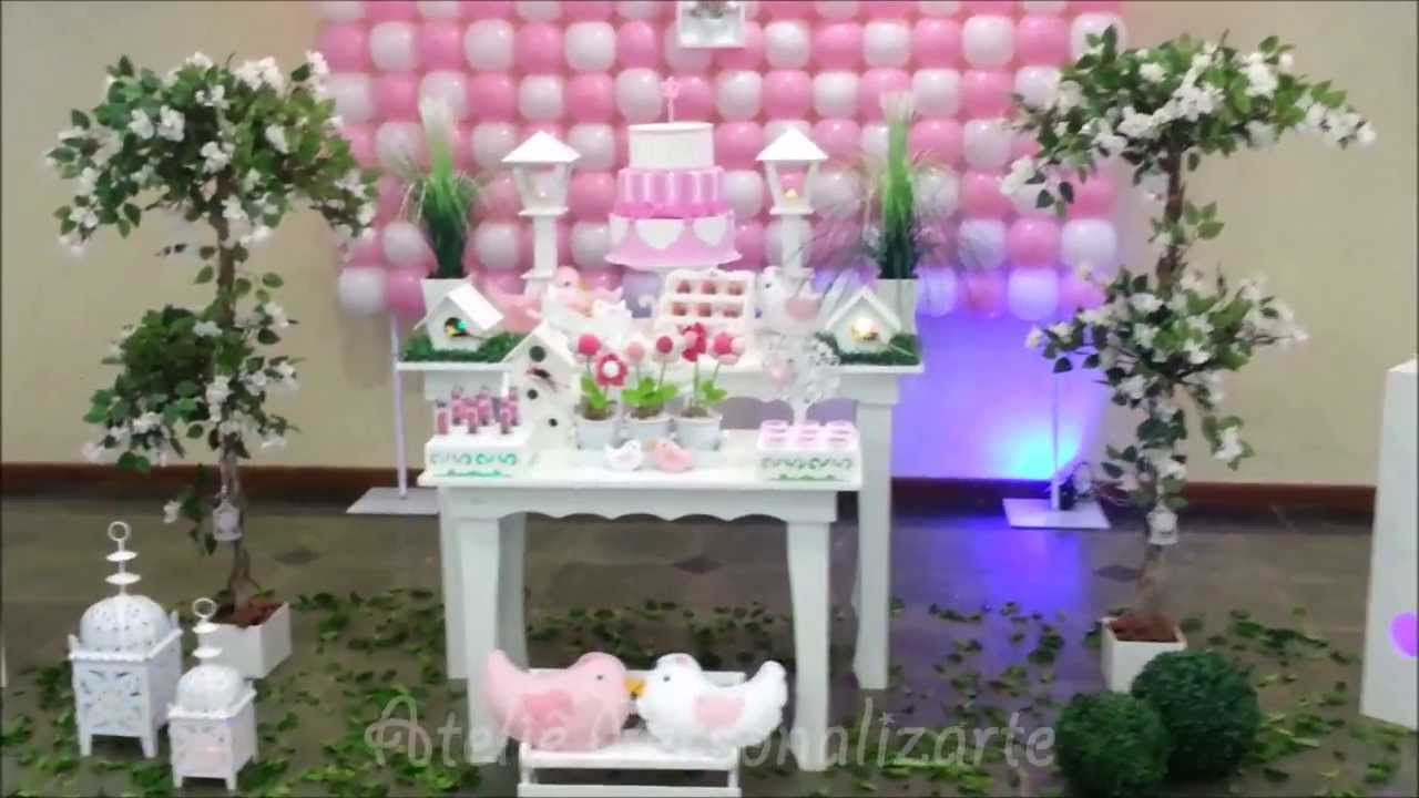 Decoraç u00e3o de festa infantil Passarinhos YouTube -> Decoracao De Oncinha Para Festa