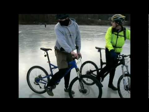 Winter Mountain Biking in Brattleboro