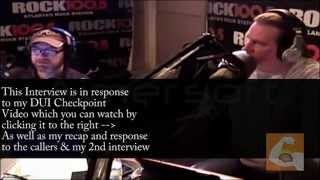 DUI Checkpoint Radio Interview - The Regular Guys Rock 100.5