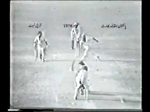 Pakistan vs India 1978 Karachi- Great Run Chase.flv