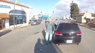 Road Rage Driver Confronts Motorcyclist