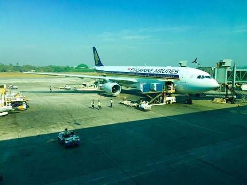 Singapore Airlines,AirBus A330-343,9V-STN,SQ997,RGN-SIN on 9 February 2015.