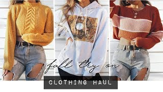 FALL TRY ON CLOTHING HAUL! AUTUMN 2018
