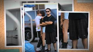 Selena Gomez visit from boyfriend Justin Bieber while on the set ( Feed The Dog)  L A  (August 29)