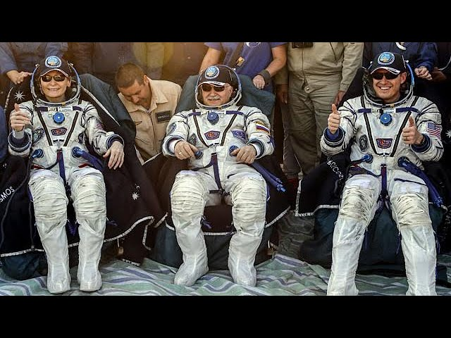 Record-breaking Peggy Whitson returns from the ISS